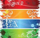Coloured banners. — Stock Vector