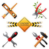 Under construction icons — Stock Vector