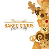 Bright background with cookies — Vettoriale Stock