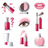 Make-up icons — Stock Vector