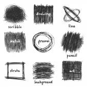 Scribble frames — Stock Vector