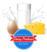 Dairy produce — Stock Vector