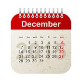 Calendar 2015 - december — Stock Vector