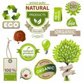 Ecology and nature emblems — Stock Vector