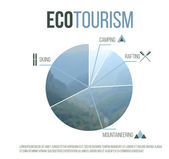 Eco tourism graph — Stock Vector
