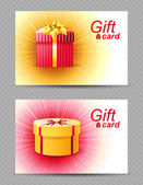 2 gift cards — Vecteur