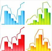 4 graphs — Stock Vector