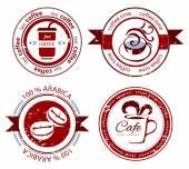 Coffee stamps — Stok Vektör