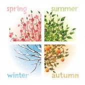 Seasons — Stock Vector