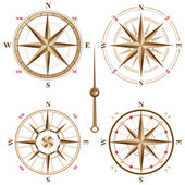 Vintage compass icons — Stockvektor