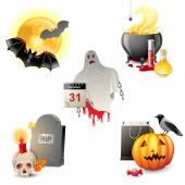 Halloween ikony — Wektor stockowy