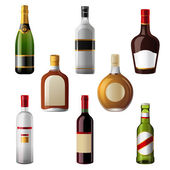 Alcohol drinks — Stock Vector