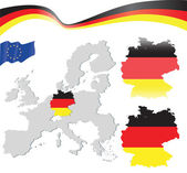 All the European countries Germany — Stock Vector