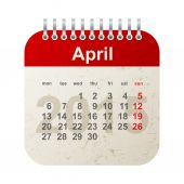 Calendar 2015 - april — Vecteur
