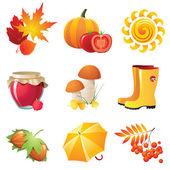 Autumn icons — Stock Vector