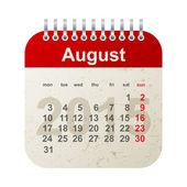 Calendar 2015 - august — Stock Vector
