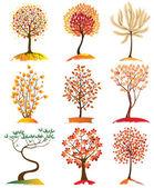 Autumn drzewa — Wektor stockowy