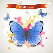 Azure butterfly  — Cтоковый вектор