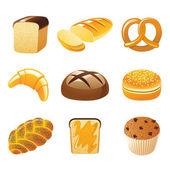 Bread icons — Stock Vector