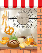 Bakery store — Stock Vector
