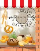 Bäckerei-shop — Stockvektor