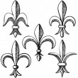 Hand drawn fleur de lis — Stock Vector #60042887
