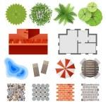 Elements for landscape design — Stock Vector #60044135