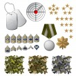 Military icons — Stock Vector #60045219