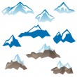 Stylized mountains icons — Stock Vector #60045601