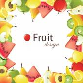Telaio di frutta — Vettoriale Stock