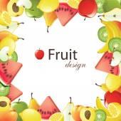 Fruits frame — Stock Vector