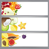Fruit banners — Stock Vector