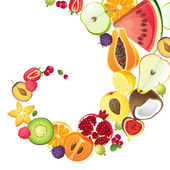 Fruit background — Stock Vector