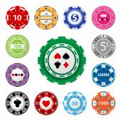 Gambling chips — Stock Vector