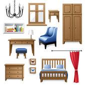Icônes de meubles — Vecteur