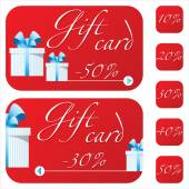 Gift card. — Stock Vector