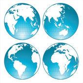 Globes — Stock Vector