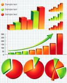 Colorful business graphs — Stock Vector