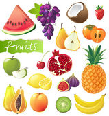 Frukt set — Stockvektor