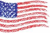 Hand drawn flag. — Stock Vector