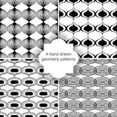 Hand drawn geometry patterns — Stockvector