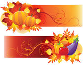 Harvest banners — Stock Vector