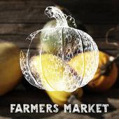 Farmers market poster — Stock Vector