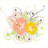 Hibiscus icon. — Stock Vector