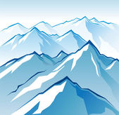Icy mountains — Stock Vector