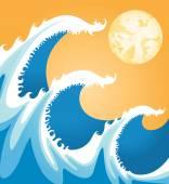 Japan sea — Stock Vector