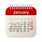 Calendar 2015 -january — Stock Vector