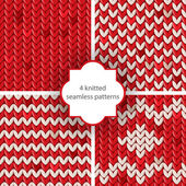 Knitted patterns — Wektor stockowy