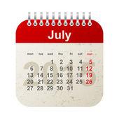 Calendar 2015 - july — Stock Vector