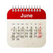 Calendar 2015 - june — Stock Vector